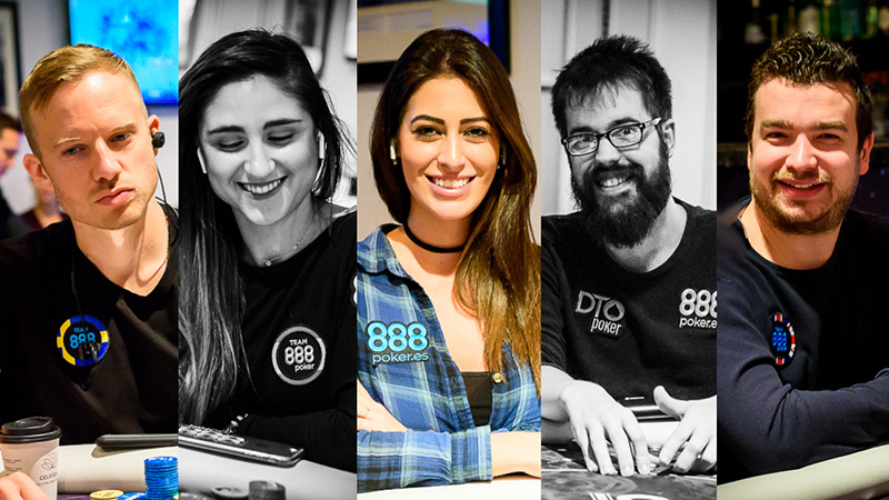 члены команды 888poker на 888poker LIVE Madrid.